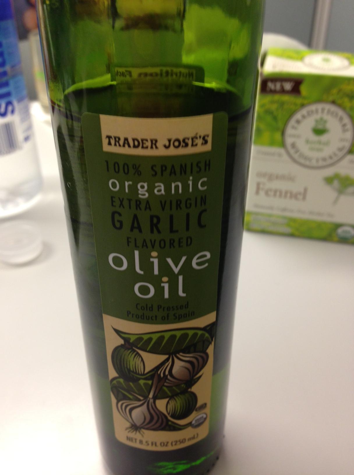Trader joe s garlic flavored olive oil livinglikelinds for Trader joe s fish oil